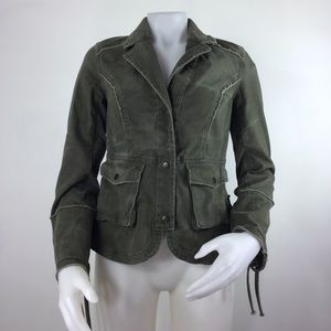 Free People Green Jacket XS